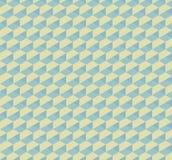 Hex 3D geometrycznego rocznika bezszwowy deseniowy tło Obraz Stock