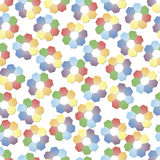 Hex flowers seamless background Royalty Free Stock Photo