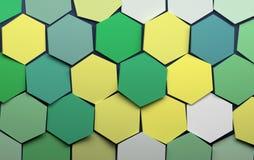 Hex?gonos verdes stock de ilustración