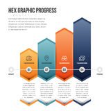 Hex Graphic Progress Royalty Free Stock Photo