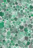 Hex Green. Green hexagonal shapes Stock Photography