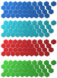 Hex Grid backdrops Stock Images