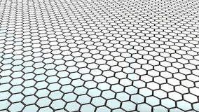 Hex grid floor Royalty Free Stock Photo