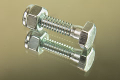 Hex head bolt Royalty Free Stock Photography