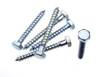 Hex head screws. Royalty Free Stock Photo