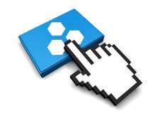 Hex ikona Obrazy Stock