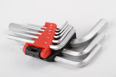 Hex key set Stock Photo