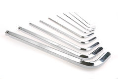 Hex key set Stock Image