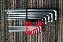 Hex key Set. On Carpet stock photography
