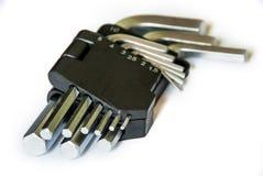 Hex key set isolated on white royalty free stock photography