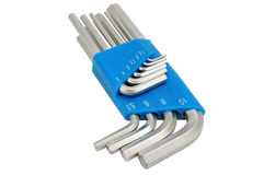 Hex key set Royalty Free Stock Image