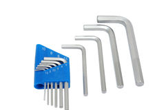 Hex key set Stock Photography