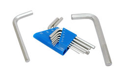 Hex key set Royalty Free Stock Photography