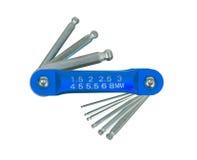 Hex key wrench set Stock Photos