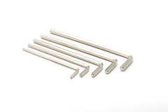 Hex key wrench set isolated Royalty Free Stock Photos