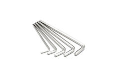Hex key wrench set isolated Royalty Free Stock Images