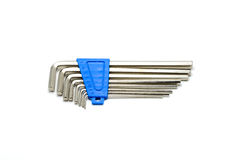 Hex key wrench set isolated Royalty Free Stock Photography