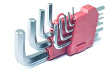 Hex keys Stock Image