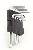 Hex keys. Large hex key set isolated stock photography
