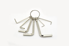 Hex keys Royalty Free Stock Images