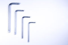 Hex keys on white Royalty Free Stock Photo