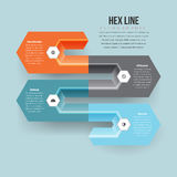 Hex Line Infographic Royalty Free Stock Images