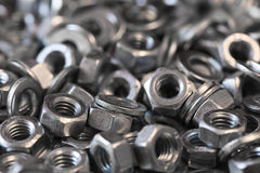 Hex metal nut Stock Images