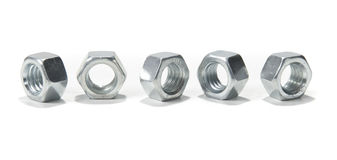 Hex Nuts Stock Images