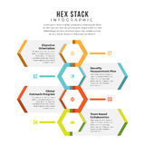 Hex Stack Infographic Stock Image