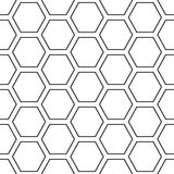 Hex stripped grid seamless pattern Royalty Free Stock Photo