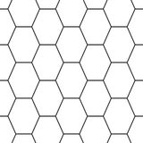 Hex stripped grid seamless pattern Royalty Free Stock Photography