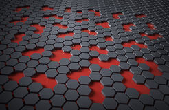 Hex technology abstract Stock Images