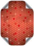 Hex world in red Stock Photo