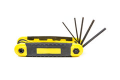 Hex wrench key set Royalty Free Stock Images