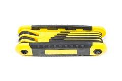 Hex wrench key set Royalty Free Stock Photo