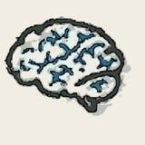 Hexa brain royalty free stock photo
