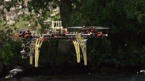 Hexa-copter stock video footage