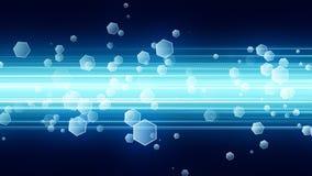 Hexa Glitters Background Stock Image