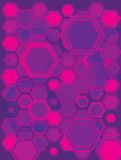 Hexa gone pink. A abstract pink and purple background with the use of haxagons stock illustration