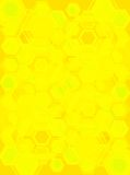 Hexa gone yellow. An abstract background with hexagones with a yellow bias stock illustration