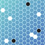 Hexa ground. An abstract background based on hexagons in blue Royalty Free Stock Photos