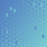 Hexa ground blue. An abstract background design based on hexagons stock illustration