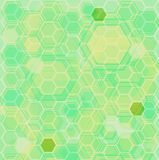 Hexa ground green. An abstract background based on hexagons in blue Royalty Free Stock Images