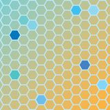 Hexa ground orange. An abstract background that is based on a hexagon design Royalty Free Stock Images