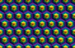 Hexa kub för regn royaltyfri illustrationer