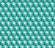 Hexa kub för skinande turkos royaltyfri illustrationer