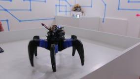 The Hexa Robots Toy. The hexa robot toy radio remote control stock video footage