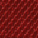 Hexacomb red tiling Royalty Free Stock Images