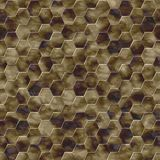 Hexacomb tiling seamless generated texture Royalty Free Stock Photo
