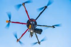 hexacopter的特写镜头视图 免版税库存照片